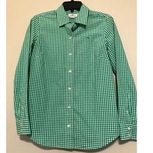 Vineyard vines green and white plaid shirt, size 2